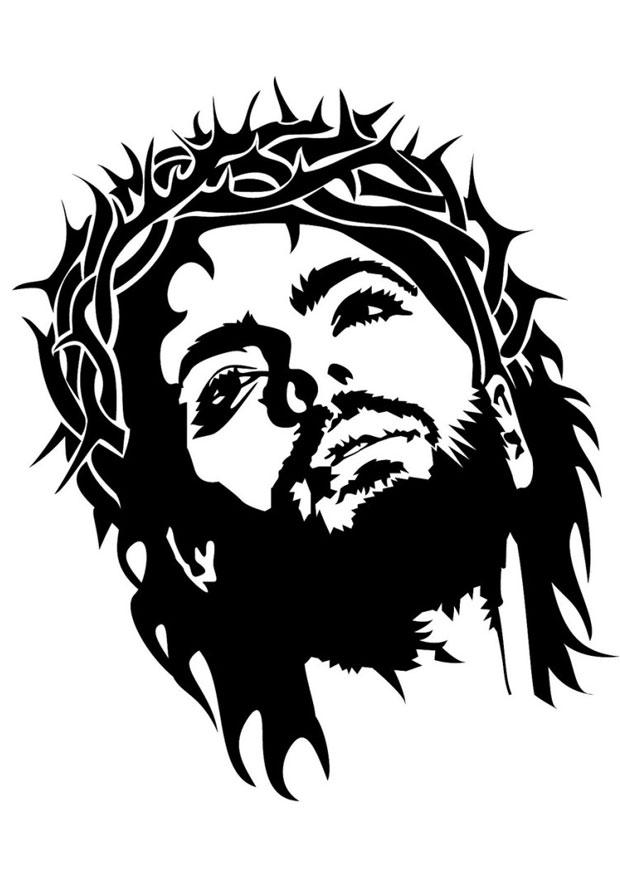 Kleurplaat Jezus Afb 24692