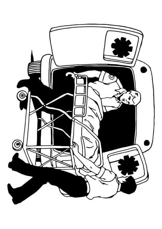 Kleurplaat Ziekenwagen Afb 11373