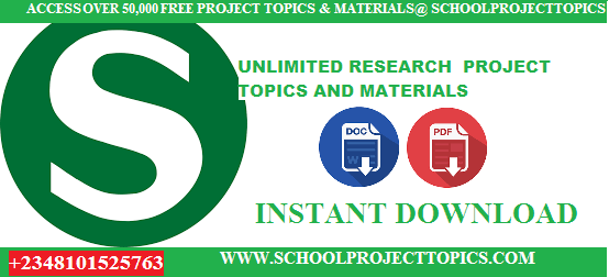 Full List Of School Project Topics Found By Departments