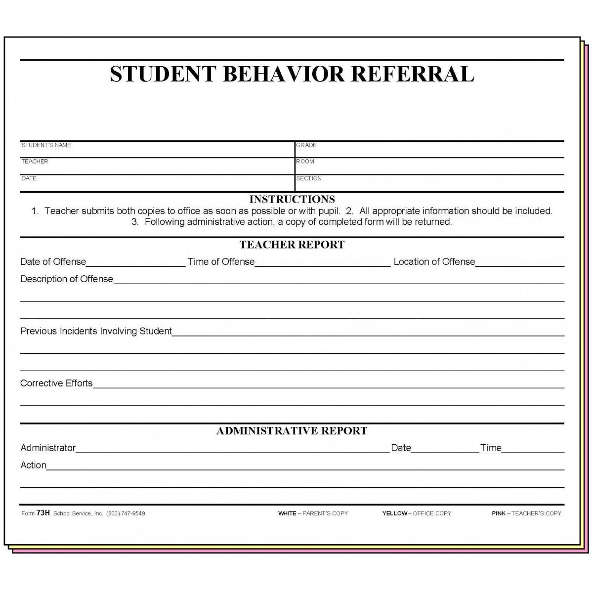 Detention Worksheet For Students