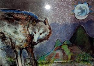 Sjamanisme wolf & maan