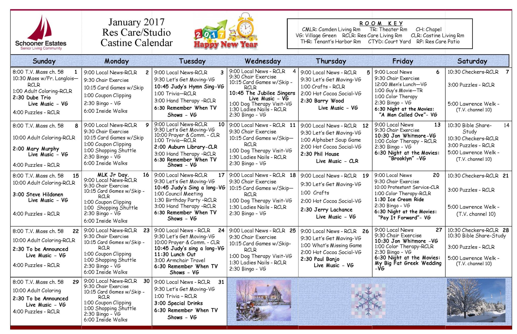 January Activities Fondos De Pantalla