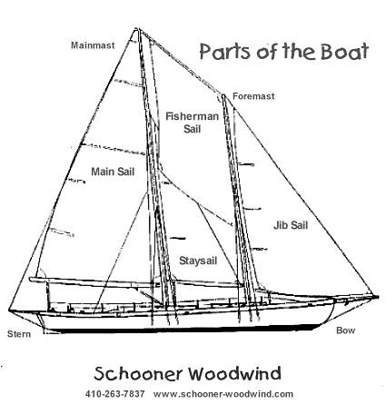 Image result for Parts of the Sail on schooner