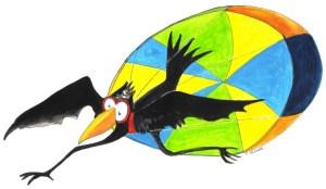 Seltsamer Flieger, gezeichnet von Petra Elsner