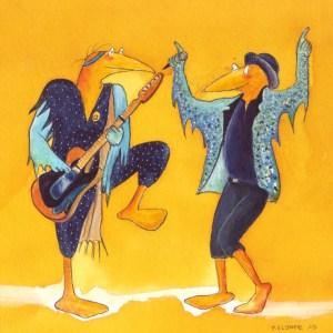 Rochlegende 5 - nach Keith Richards und Mick Jagger, gezeichnet von Petra Elsner