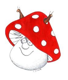 Gehörnter Glückspilz, gezeichnet von Petra Elsner