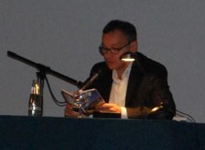 Knut Elerstermann liest im Kino Babylon, Foto: P. Elsner
