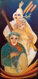 Nächtliche Maserade Öl auf Leinwand von Petra Elsner