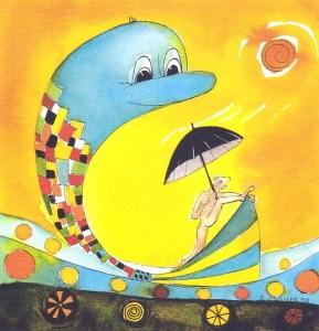 Badetag Träume-Cartoon von Petra Elsner