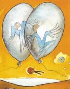 Schweben in der Zeit Zeichnung: Petra Elsner