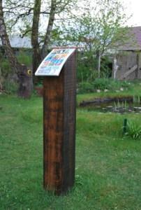 Das Pult im Lesegarten. Foto: pe