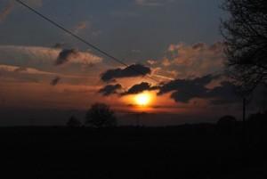 Sonnenuntergang in der Schorfheide. Foto: Lutz Reinhardt