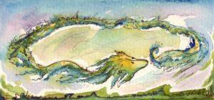 Wallos Regentanz. Zeichnung: Petra Elsner