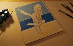Das Januarblatt nimmt Formen an ... ist aber noch nicht fertig... Zeichnung: Petra Elsner