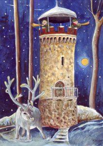 Askanierturm Eichhorst, Zeichnung von Petra Elsner