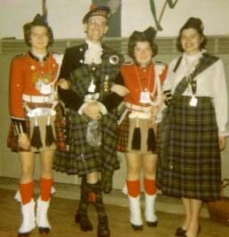 Waltraut und Reinhilde mit einem echten Schottischen Prinzenpaar Ferguson(1970)