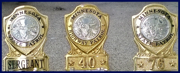 Minnesota State Patrol Badges Collar Brass Challenge