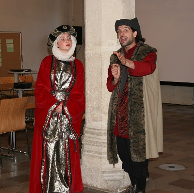 Mitteralterliche Kauffrau in Regensburg