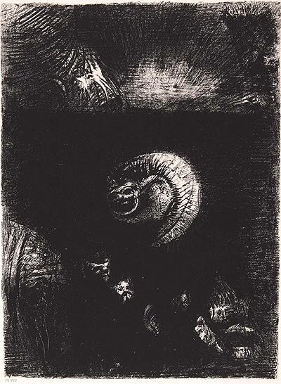 Odilon Redon, La tentation de Saint Antoine plate VIII