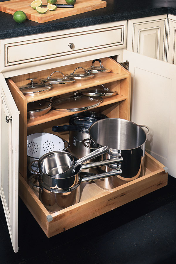 Base Pots And Pans Organizer Schrock Cabinetry