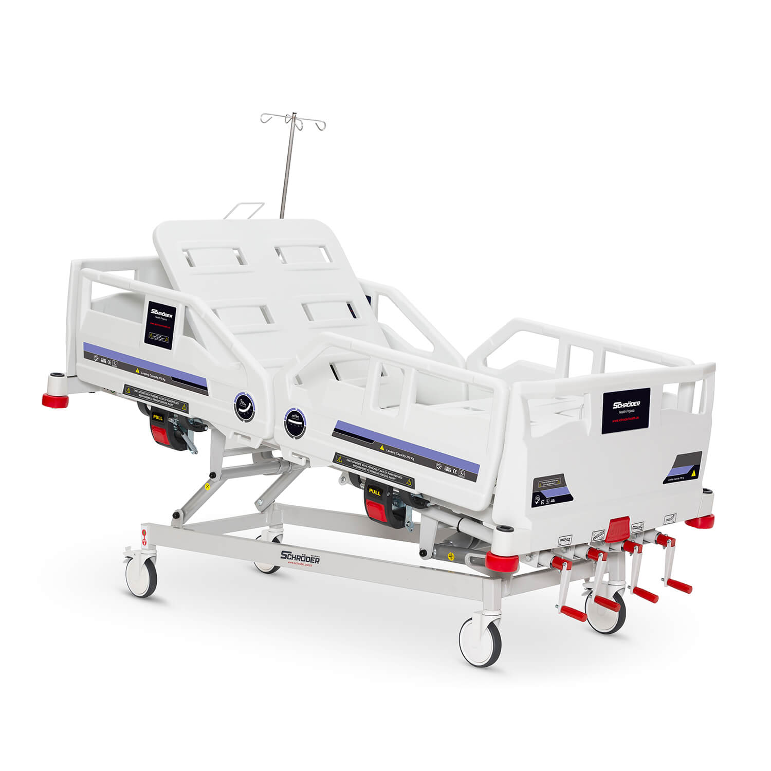 Mechanical Operated Hospital Bed, 4 Cranks