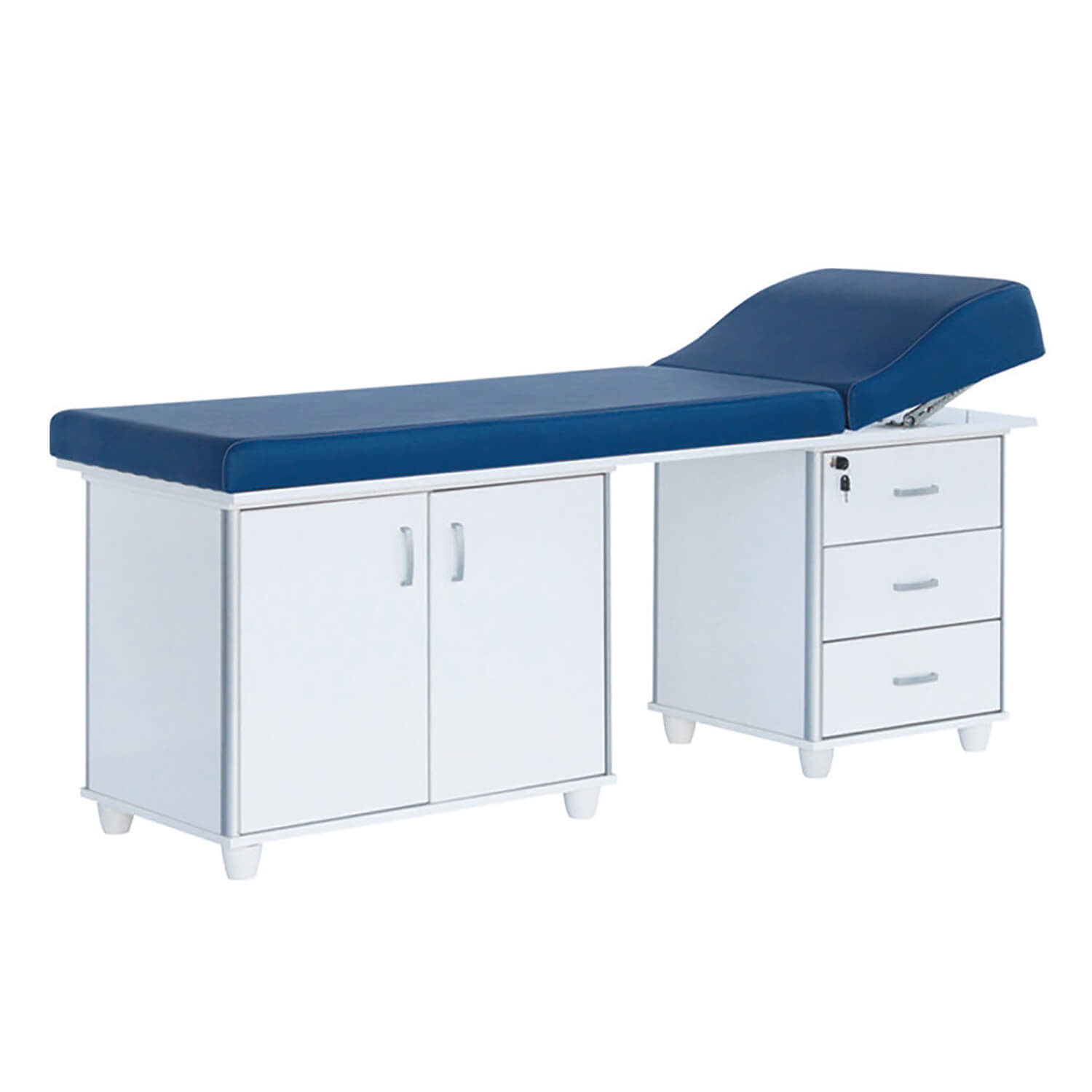 Examination Couch with Drawers and Cabinets