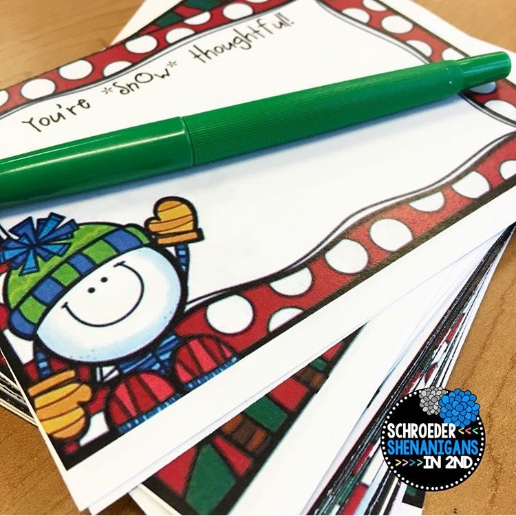 student gifts, snowman soup, christmas gifts, gifts from teacher to student