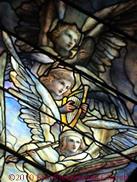Tiffany cherubs in First Presbyterian Church, Springfield, IL