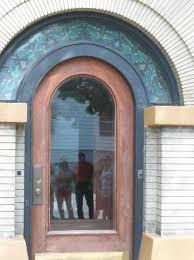 Main entrance door to Dana-Thomas house by Frank Lloyd Wright.