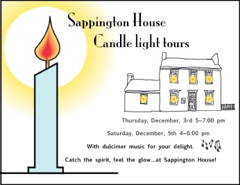 Sappington House Candle light tours: Catch the spirit, feel the glow....at Sappington House!