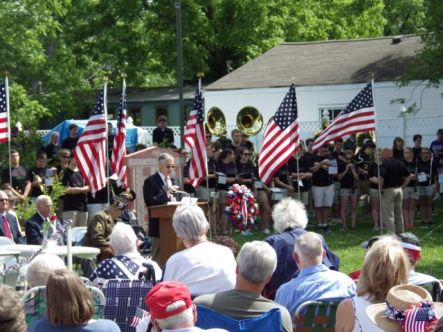 2015 SCHS Memorial Day ceremony on the green at St Lucas