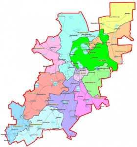 Карта Бурабайский (Щучинский) район