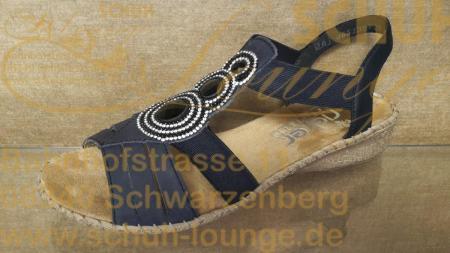 Sommer-Grüße an die Füße! Heißt es mit dieser leichten Riemensandalette aus Nubukleder in Ozeanblau.