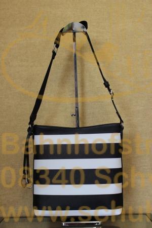 Sportive Crossbag aus robustem Lederimitat in Saffiano-Optik die pures Urlaubsfeeling verströmt.