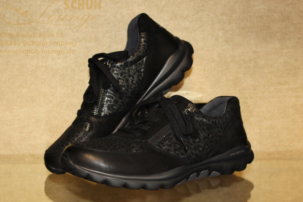 """""""rollingsoft"""" Sneaker von Gabor in schwarzem Animal Print"""