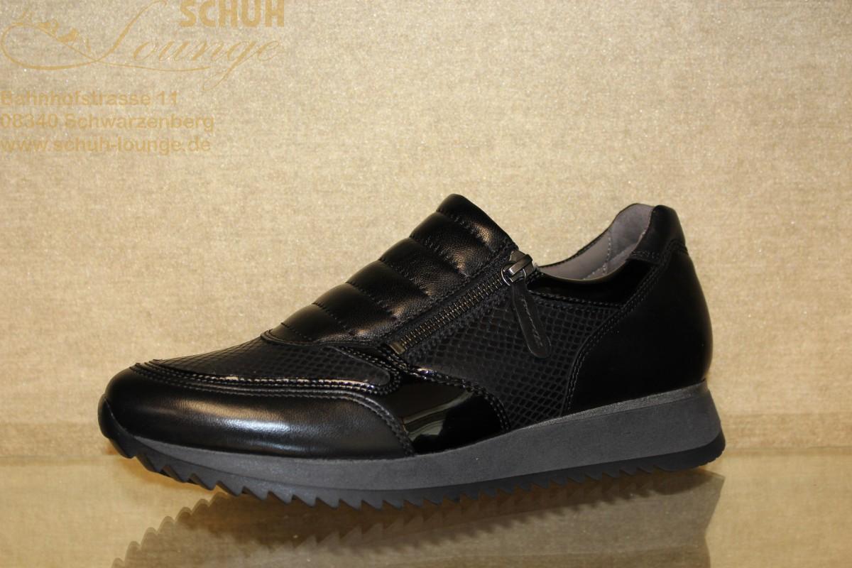 """Schwarzer Gabor Sneaker in komfortabler """"H"""" Weite"""
