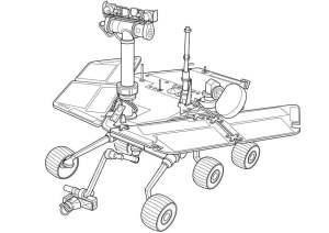 Malvorlage Marserkundungsfahrzeug | Ausmalbild 9960