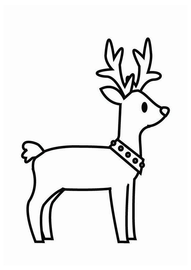 Malvorlage Rentier Weihnachten Ausmalbild 26704
