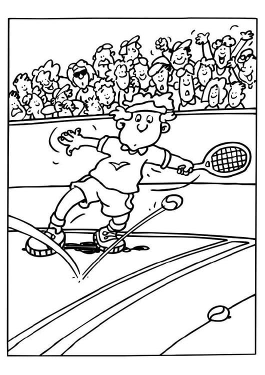 Malvorlage Tennis Ausmalbild 6551