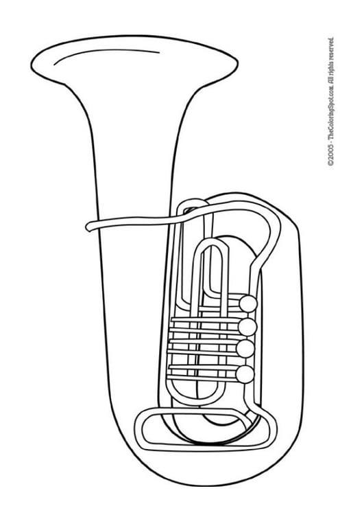 Malvorlage Tuba Ausmalbild 5958