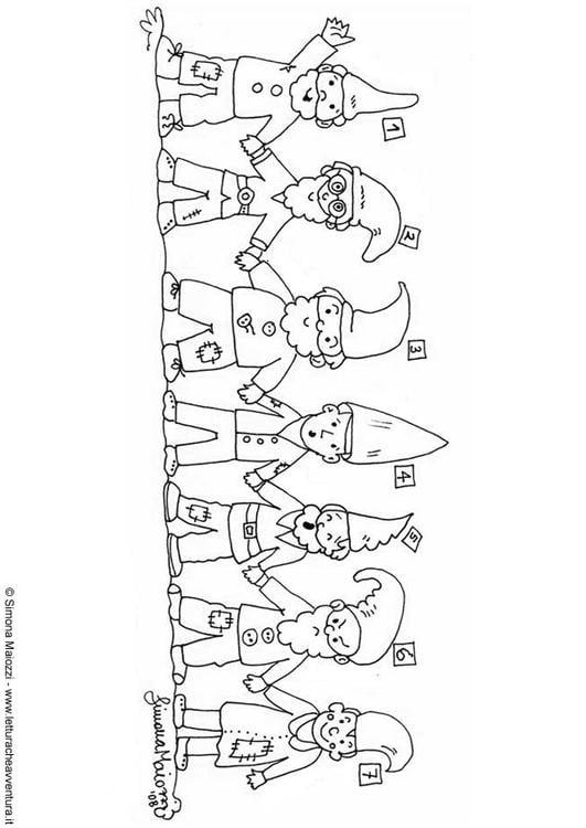 Malvorlage Zwerge 1 7 Ausmalbild 12334