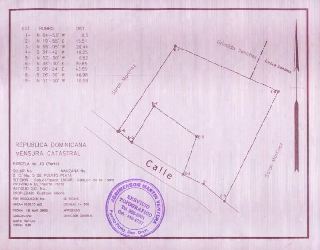 Schulbauplan  vom April 2005