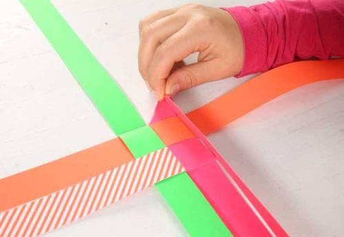 Wiederholen Sie die Schritte 7. und 8. bei den drei anderen kurzen Streifen.