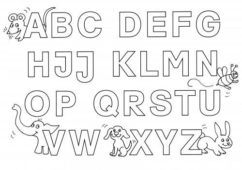 Kostenlose Malvorlage Buchstaben Lernen Buchstaben Lernen