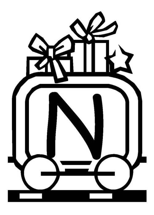 Kostenlose Malvorlage Buchstaben Lernen Weihnachtsschrift