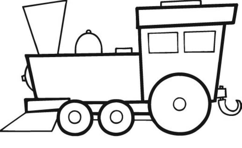 Kostenlose Malvorlage Transportmittel Groe Lokomotive