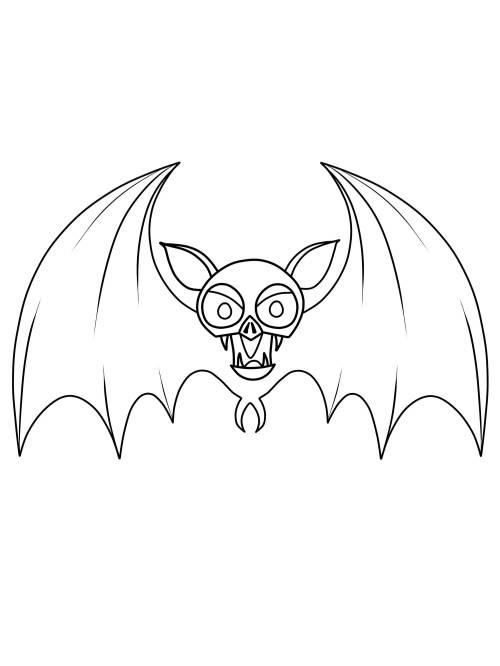 Kostenlose Malvorlage Halloween Fledermaus Zum Ausmalen