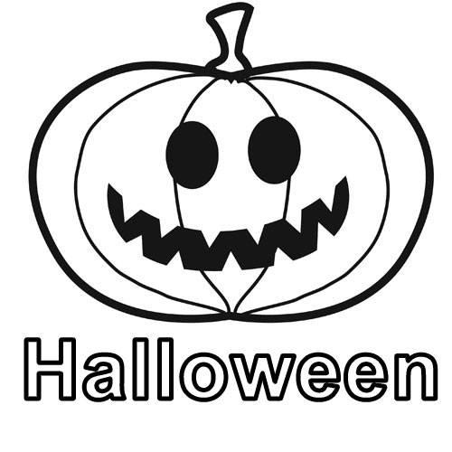 Kostenlose Malvorlage Halloween Krbis Zum Ausmalen Zum