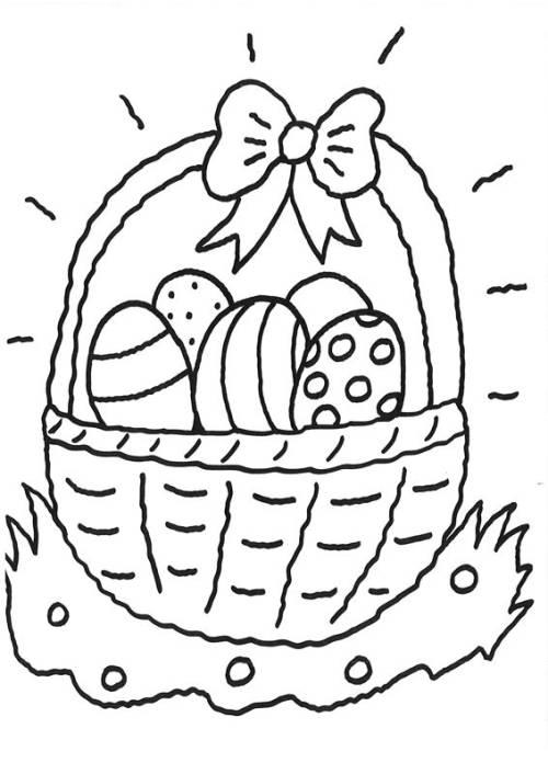 Kostenlose Malvorlage Ostern Ostereierkorb Zum Ausmalen