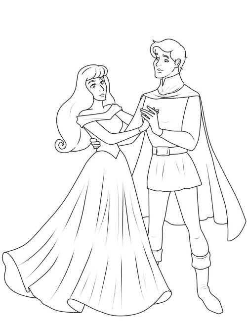 Kostenlose Malvorlage Prinzessin Prinz Und Prinzessin Zum